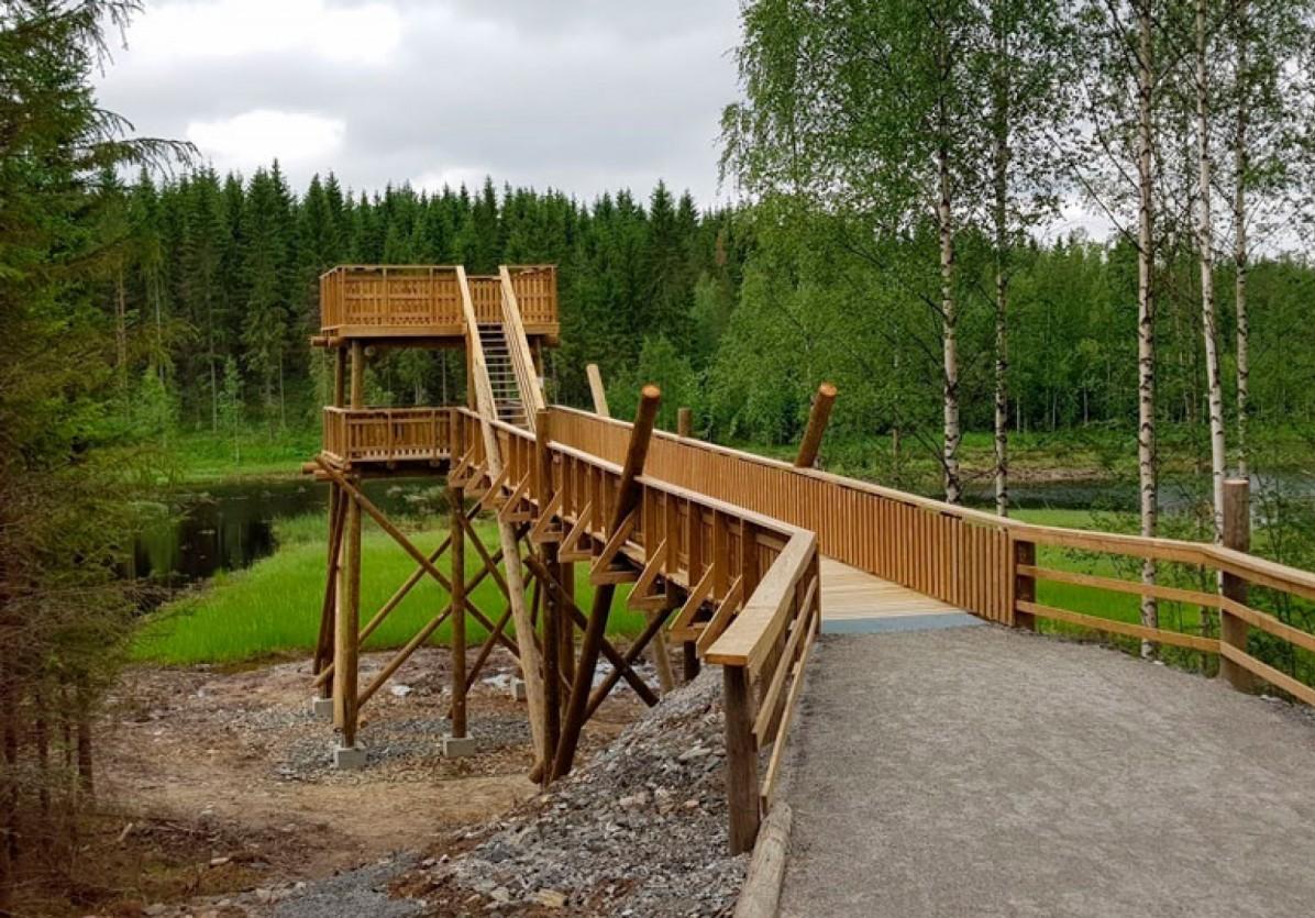 Luontoretki Keihäsjärven lintutornille