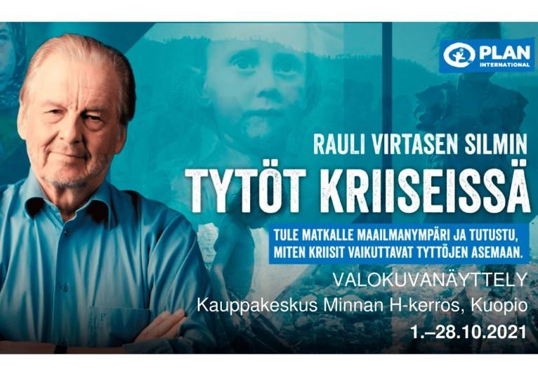 Rauli Virtasen silmin: Tytöt kriiseissä -valokuvanäyttely Kuopiossa