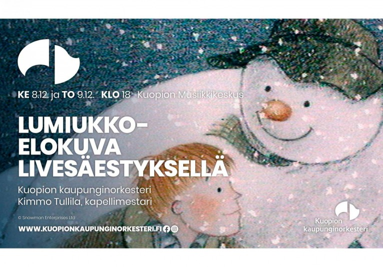 Lumiukko-elokuva livesäestyksellä