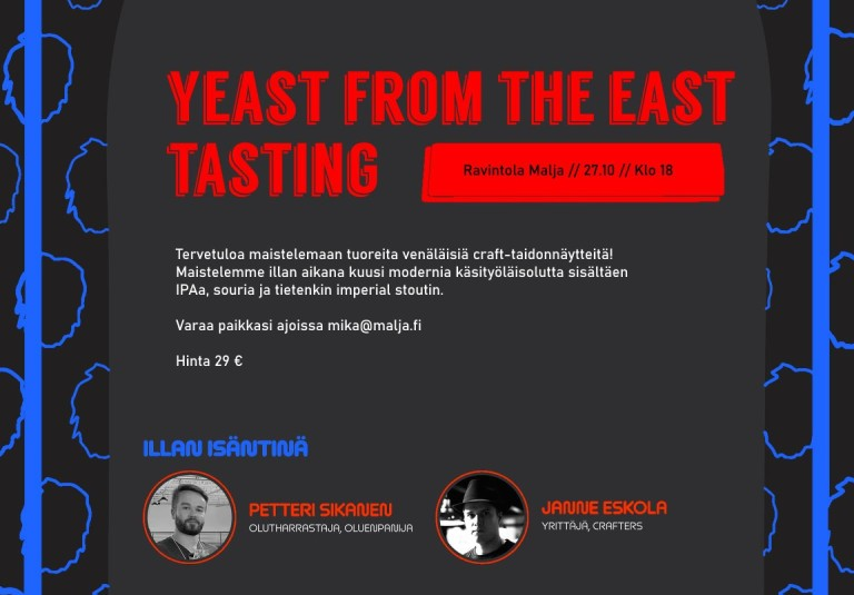 Yeast from the east tasting